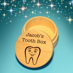 Christian just asked me not too long ago to be his tooth fairy I may have to buy this...Tooth Fairy Box, Laser Engraved