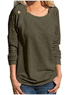 Comfy Womens Solid Long Sleeve Crew Neck Zipper Pullover Sweater