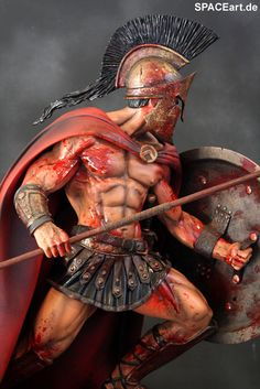 300: Leonidas Battle Rage - Deluxe Statue, Fertig-Modell ... http://spaceart.de/produkte/300001.php