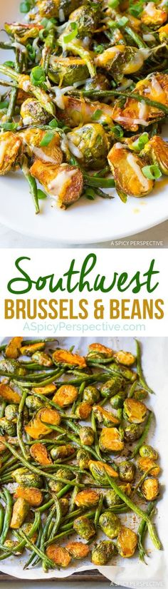 Easy 6-Ingredient Southwest Brussels and Beans on ASpicyPerspective.com