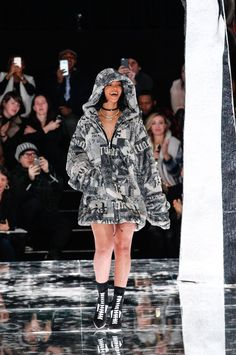 Rihanna Fenty at Puma Fall 2016 Collection Show in New York
