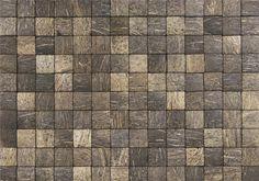 Honai coco evo grain aqua brown. Met de Honai coco evo grain aqua brown van Nature at home maak je een interieur exclusief, natuurlijk en uniek. De kokosnoot wandtegels zijn eco vriendelijk, decoratief, stijlvol en gemakkelijk te installeren. Deze prachtige natuurlijke wandbekleding kan ook toegepast worden in vochtige ruimtes. Evo, Grains, Aqua, Texture, Brown, Wall, Stones, Home Decor, Ideas