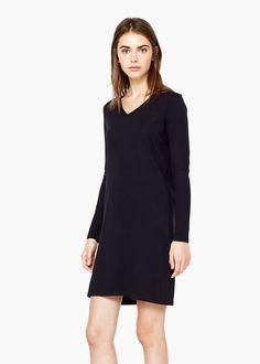Shift cotton dress   MANGO