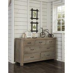 Highlands 7 Drawer Dresser - Driftwood
