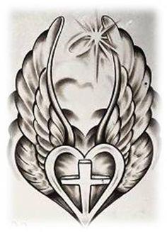 tato ikan koi, heart and flower tattoo, Cross Tattoo Designs, Tattoo Design Drawings, Art Drawings Sketches, Tattoo Sketches, Cross Tattoos, Remembrance Tattoos, Memorial Tattoos, Cross Drawing, Herz Tattoo
