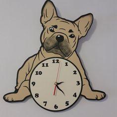 French Bulldog, Happiness, Clock, Wall, Decor, Dekoration, Bulldog Frances, Watch, Decoration