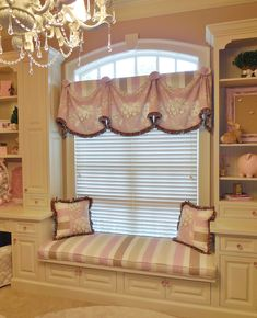 Our Rio Valance with matching Window Seat Cushion and Pillows