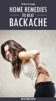 Home Remedies for Backache: A backache can make it difficult to carry out day-to-day activities. Natural treatments can provide quick relief from the pain and allow you to enjoy life again.Here are the top 10 home remedies for backache.