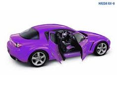"""Purple Mazda RX8. I want to paint my car this color...looks awesome!!!  Mine is """"Winning Blue"""" - love, love, love my blue! #Electra is her name...love my RX-8!"""