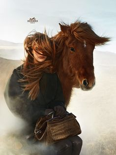 Hermes FW 2014 2015 ad campaign featuring beautiful icelandic horses