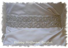 New - Rhinestone Bridal Belt, Wedding Dress Sash 18 Inch Beaded Rhinestone Crystal  No. 3010S2-18 - Wedding Accessories, Belts, Sashes. $108.00, via Etsy.