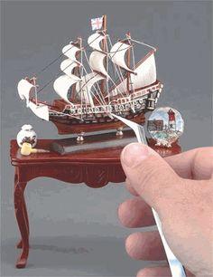 Sailing ship display