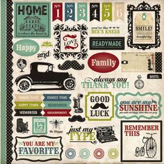 Echo Park - Times and Seasons Collection - 12 x 12 Cardstock Stickers - Elements at Scrapbook.com $2.99