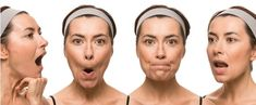 Face yoga involves facial exercises of the entire face, scalp and neck. In simple words it is a natural face lift - work out for the facial muscles aiming at keeping the muscle tone. Facial Muscle Exercises, Do Facial Exercises Work, Face Exercises, Facial Muscles, Facial Yoga, Facial Massage, Natural Face Lift, Sagging Skin, Workout Programs