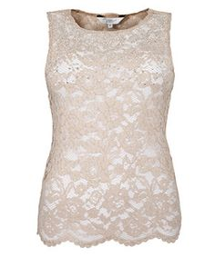 Pink Pattern (Pink) Pink Embellished Neck Lace Sleeveless Top. This website has some cute cheap stuff.