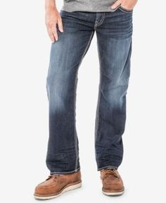 Silver Jeans Co. Men's Gordie Relaxed Fit Jeans - Blue 32x32