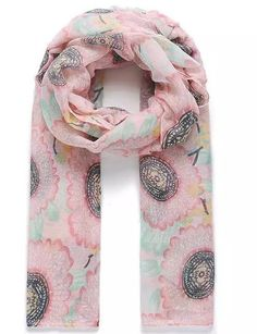 Ladies Scarf Pashmina Floral Print Pink Green SS17 New Designs Shawls   #Intrigue #Scarf