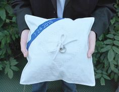 Custom Recycled Sail Ring Pillow