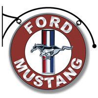Ford Mustang Sign with Hanger  http://www.retroplanet.com/PROD/36610