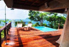 Secret Bay: Zabuco Villa outdoor shower and pool in Dominica