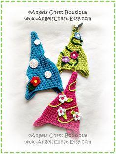 Crochet GARDEN GNOME Hat PDF Pattern Sizes Newborn to Adult