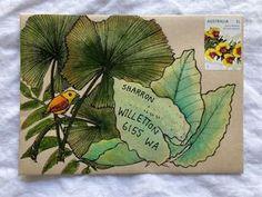 62 ideas for a letter — Naomi Loves Envelope Lettering, Envelope Art, Hand Lettering, Letter Writing, Letter Art, Watercolor Leaf, Mail Art Envelopes, Snail Mail Pen Pals, Pen Pal Letters