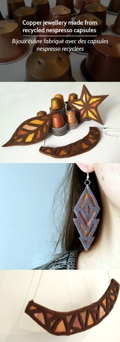 joyería de cobre a partir de cápsulas de Nespresso
