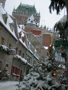 Quebec: My absolute top bucket list city to visit right now. Gotta get there soon!