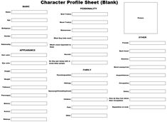 Anime Character Profile Template | Character Profile Sheet (Blank) by KittensAngel on DeviantArt