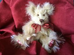 A personal favorite from my Etsy shop https://www.etsy.com/listing/252842443/carley-mohair-mini-teddy-bear