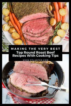 Best Top Round Roast Recipe, Beef Round Roast Recipe, Roast Recipe Dutch Oven, Cooking Roast In Oven, Slow Cooker Round Roast, Roast Beef Recipes, Best Roast Beef, Meatloaf Recipes