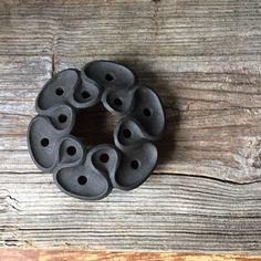 Mid Century Dansk Iron Candleholder: Vintage Danish Modern Taper Holder, Dansk Design Denmark, Black Cast Iron Dansk, Modern Home Decor by Untried on Etsy