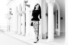 Ladylike black and white