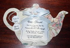 crafty tea party baby shower invitations | Squiggle's Baby Shower Invitations : Pregnancy Baby Child
