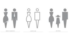 Washroom symbol sets were designed for different towers. The goal was to make them unique and suitable for their environment.Created with Hirsch Bedner Associates
