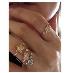 ♡ Nuovi anelli Cuore e Stella_  _____ Argento 925 e zirconi €22〰  #amore #amour #newring #tu #news #argento #madeinitaly #laboratoriodivicenza #iloveyou