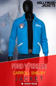 Ford V Ferrari Carroll Shelby Matt Damon Jacket In 2020 Jackets Blazer Jacket Jacket Shop