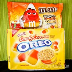 Great goodies at Love from the Oven: Candy Corn Oreos and Candy Corn M