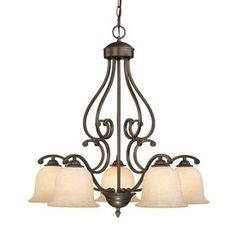 Millennium Lighting Courtney Lakes 5-Light Rubbed Bronze Hardwired Standard Chandelier