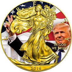 2016 United States Modern Commemorative TRUMP Donald President Walking Liberty 1 Oz Silver Coin 1 US Mint 2016 BU Brilliant Uncirculated >>> You can get more details by clicking on the image. Note: It's an affiliate link to Amazon