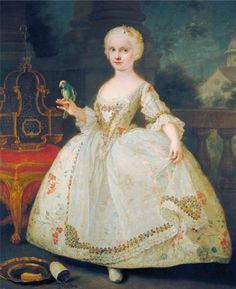 Spanish Bourbon Infantas:  charming portraits by Francesco Liani of the daughters of Carlos III: