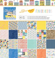 Amy Tangerine - Finders Keepers Collection - 12x12 Paper Pad - SharBearCrafts