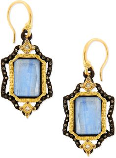 Armenta Old World Emerald-Cut Kyanite Earrings with Diamonds on shopstyle.com