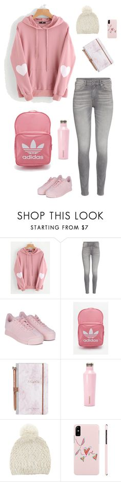 """""""Untitled #1553"""" by shemomjojo ❤ liked on Polyvore featuring WithChic, adidas, Ted Baker and Corkcicle"""