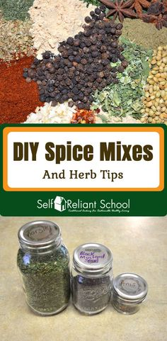 Storing and making your own spice mixes. Here are 13 of my most used spice mixes. I also cover freezing herbs. Homemade Spice Blends, Homemade Spices, Homemade Seasonings, Spice Mixes, Chili Canning Recipe, Cooking With Olive Oil, Food Photography Tips, Recipe Mix, Seasoning Mixes