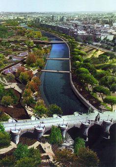Manzanares River Madrid Spain