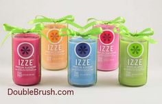 Eco Friendly Candle Izze Recycled Bottle - Blackberry