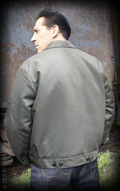 Rumble59 - Workerjacke - Blanko - beige #rumble59 #workerjacket #rockabilly #hotrod