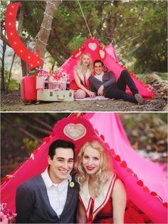 vintage engagement session ideas #valentinesday #vintage #weddingchicks http://www.weddingchicks.com/2014/02/14/camping-with-cupid-inspiration/