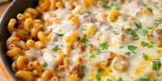 Bolognese is too high-brow for a busy weeknight. Sloppy Joe Mac and cheese Sloppy Joe Mac And Cheese Recipe, Easy Mac And Cheese, Mac Cheese Recipes, Pasta Recipes, Ground Meat Recipes, Beef Recipes, Cooking Recipes, Hotdish Recipes, Pasta Dinners